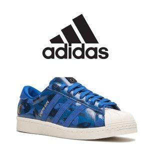 """BAPE X ADIDAS SUPERSTAR 80V """"BLUE CAMO"""" Sneakers"""